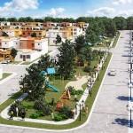 Render areas verdes, La vista Plus en San Miguel de Allende