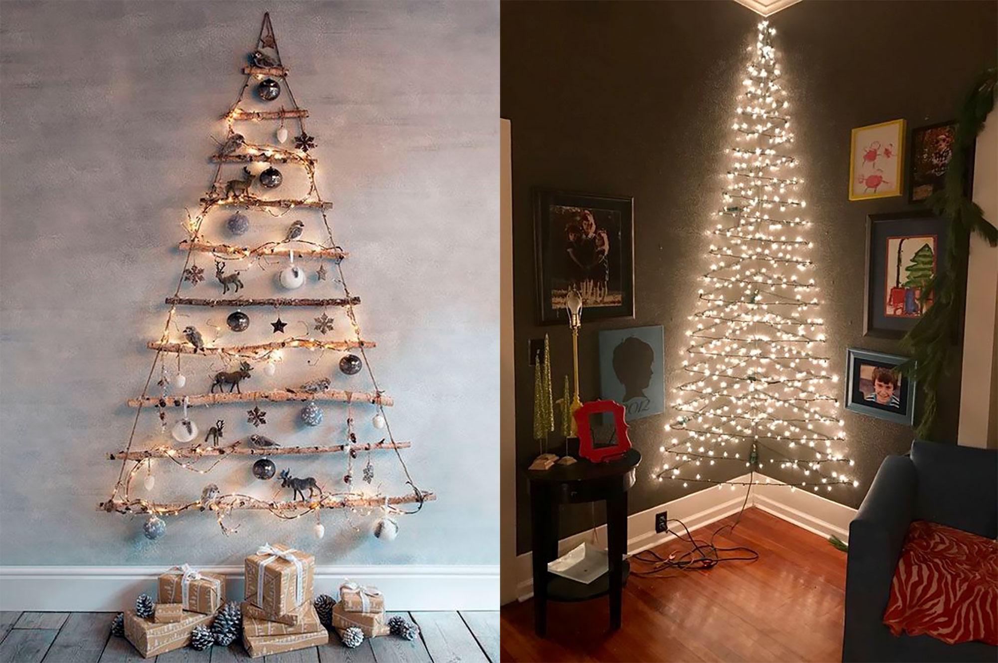 arbol de navidad en la pared